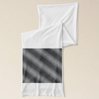 Ultra Thin Black & White Gradation Lines Scarf