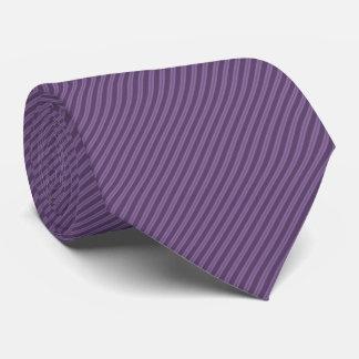 Ultra Thin Diagonal Purple Stripes Tie
