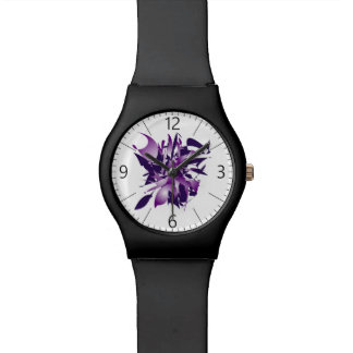 Ultra violet abstraction watch
