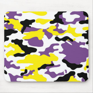 Ultra Violet and Golden Yellow Camo Mousepad