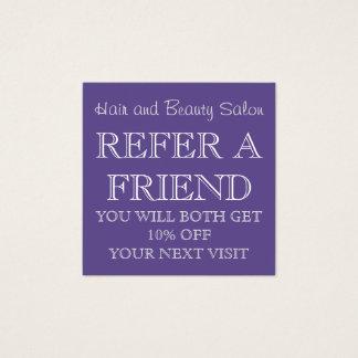 Ultra Violet Beauty Salon Referral Card