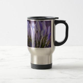 Ultra violet crocuses travel mug