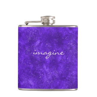 Ultra violet galaxy flask
