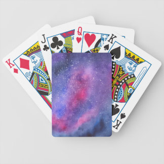 Ultra violet galaxy playing cards