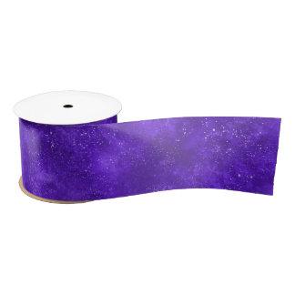 Ultra violet galaxy ribbon satin ribbon