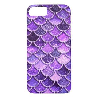 Ultra Violet Glitter Mermaid Scales iPhone 8/7 Case