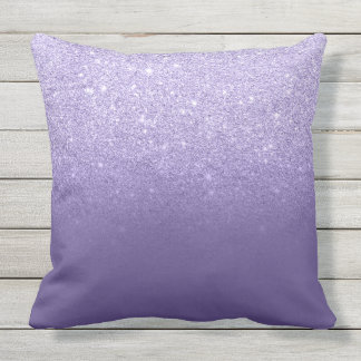 Ultra violet glitter ombre purple color block outdoor cushion