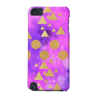 ultra violet, modern,purple,pink,gold,round,triang iPod touch 5G cover
