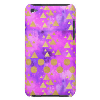 ultra violet, modern,purple,pink,gold,round,triang iPod touch Case-Mate case