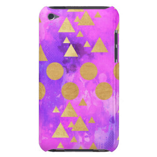 ultra violet, modern,purple,pink,gold,round,triang iPod touch cover