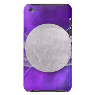 ultra violet, modern,purple,triangle,silver,trendy barely there iPod covers