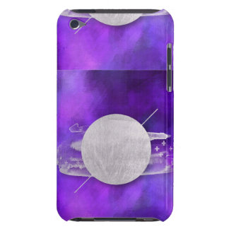 ultra violet, modern,purple,triangle,silver,trendy iPod touch cover