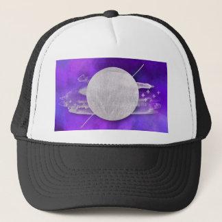 ultra violet, modern,purple,triangle,silver,trendy trucker hat