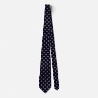 Ultra violet polka dots on black tie