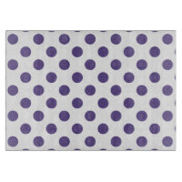 Ultra violet polka dots on white
