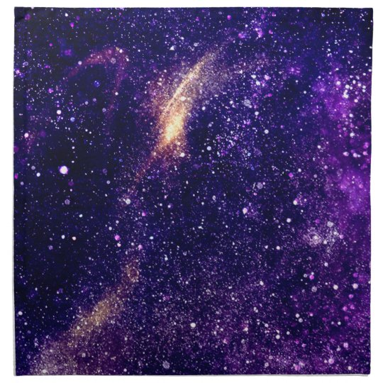 Ultra violet purple abstract galaxy napkin
