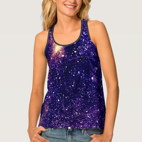 Ultra violet purple abstract galaxy singlet