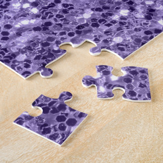 Ultra violet purple glitter sparkles jigsaw puzzle