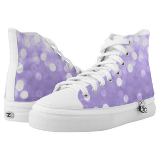Ultra violet purple sparkly bokeh high tops