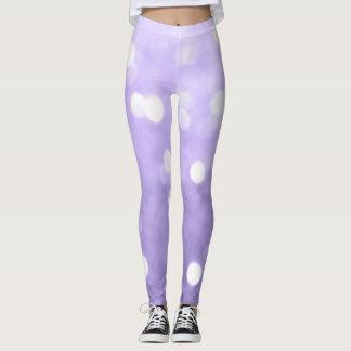 Ultra violet purple sparkly bokeh leggings