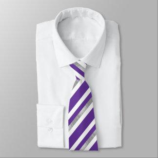 Ultra Violet Striped Pattern Neck Tie