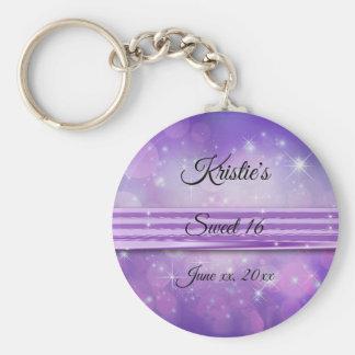 Ultra Violet, Sweet Sixteen, Custom, Party Favor Key Ring
