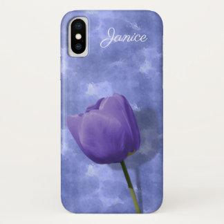 Ultra Violet Tulip iPhone X Case
