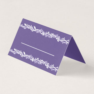 Ultra Violet Wedding Simple Reception Table Card