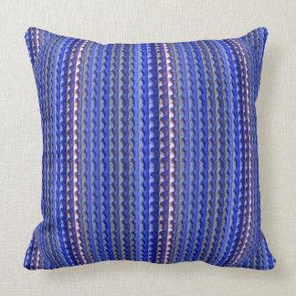 ultrabrite indigo lavendar throw pillow