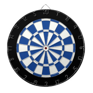 Ultramarine Blue Black And White Dartboard