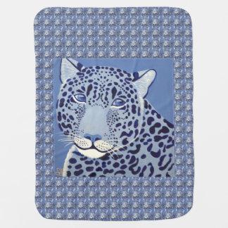 Ultramarine Jaguar Baby Blanket