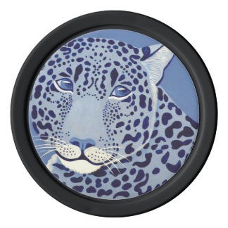 Ultramarine Jaguar Poker Chips