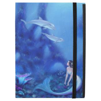 Ultramarine Mermaid and Dolphins iPad Pro Case