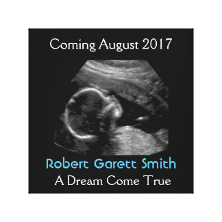 Ultrasound with Name & Picture Canvas Wall Hanging