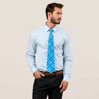 Ultraviolet Blue Artisan Foulard Satin Tie