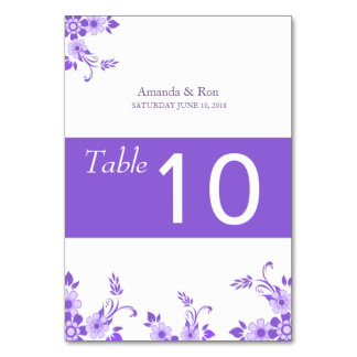 Ultraviolet Flower Wedding Tabble Cards