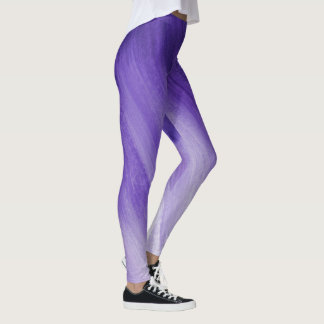 Ultraviolet purple abstract art leggings