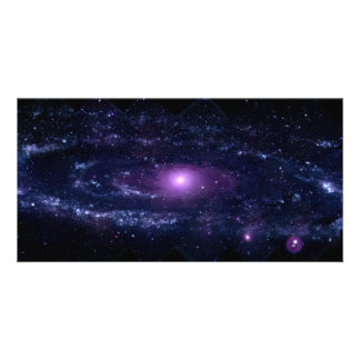 Ultraviolet Purple Andromeda Galaxy Space Customized Photo Card