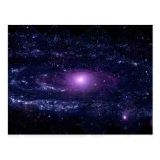 Ultraviolet Purple Andromeda Galaxy Space Postcard