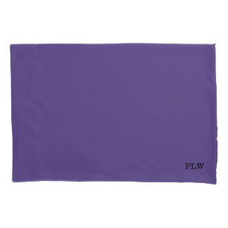 Ultraviolet Purple with Optional Initials Pillowcase