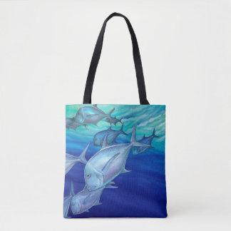 Ulua (Giant Trevally) Tote Bag