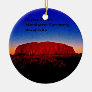 Uluru, Aboriginal Sacred Site Ceramic Ornament