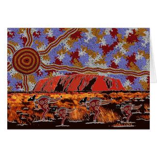Uluru - Authentic Aboriginal Art Card