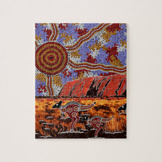 Uluru - Authentic Aboriginal Art Puzzle