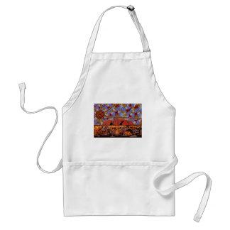 Uluru - Authentic Aboriginal Art Standard Apron