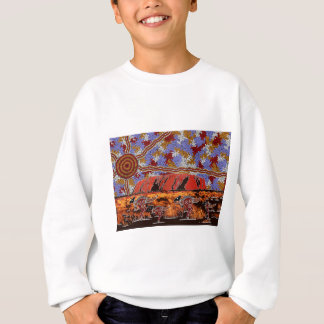 Uluru - Authentic Aboriginal Art Sweatshirt