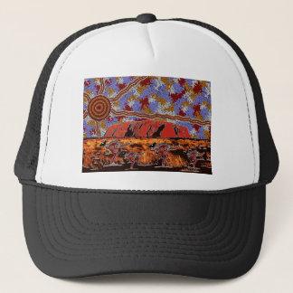 Uluru - Authentic Aboriginal Art Trucker Hat