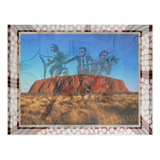 Uluru Dancers NT Australia Post Card