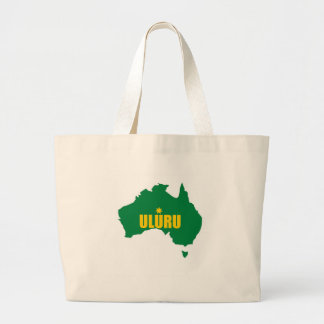 Uluru Green and Gold Map Canvas Bags