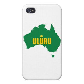 Uluru Green and Gold Map iPhone 4 Case